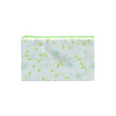 Floral Pattern Cosmetic Bag (xs) by Valentinaart