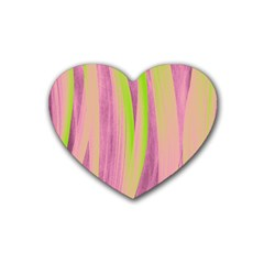 Artistic Pattern Heart Coaster (4 Pack)  by Valentinaart
