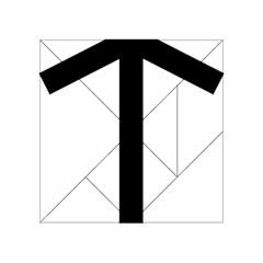 Grapevine Cross Acrylic Tangram Puzzle (4  X 4 ) by abbeyz71