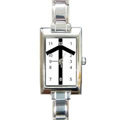 Grapevine Cross Rectangle Italian Charm Watch by abbeyz71