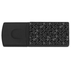 Linear Abstract Black And White Usb Flash Drive Rectangular (4 Gb) by dflcprints