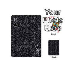 Linear Abstract Black And White Playing Cards 54 (mini)  by dflcprints