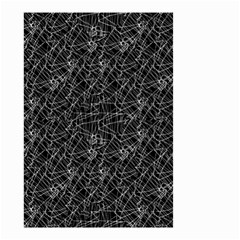 Linear Abstract Black And White Small Garden Flag (two Sides) by dflcprints