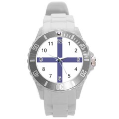 Greek Cross  Round Plastic Sport Watch (l) by abbeyz71