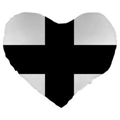 Greek Cross Large 19  Premium Heart Shape Cushions by abbeyz71