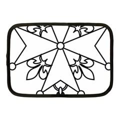 Huguenot Cross Netbook Case (medium)  by abbeyz71