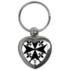 Huguenot Cross Key Chains (heart)  by abbeyz71