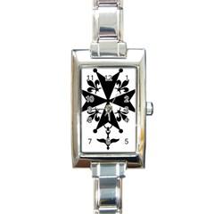 Huguenot Cross Rectangle Italian Charm Watch by abbeyz71
