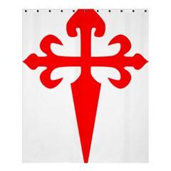 Cross Of Saint James Shower Curtain 60  X 72  (medium)  by abbeyz71