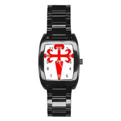 Cross Of Saint James Stainless Steel Barrel Watch by abbeyz71