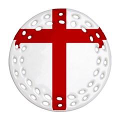 Cross Of Saint James Ornament (round Filigree) by abbeyz71