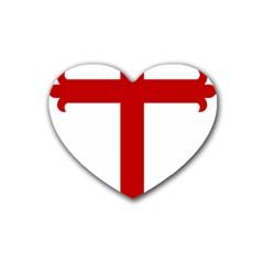 Cross Of Saint James Heart Coaster (4 Pack)  by abbeyz71