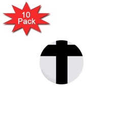 Latin Cross  1  Mini Buttons (10 Pack)  by abbeyz71
