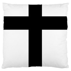 Latin Cross  Large Flano Cushion Case (two Sides) by abbeyz71
