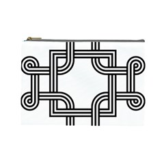 Macedonian Cross Cosmetic Bag (large)  by abbeyz71