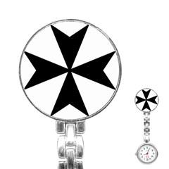 Maltese Cross Stainless Steel Nurses Watch by abbeyz71