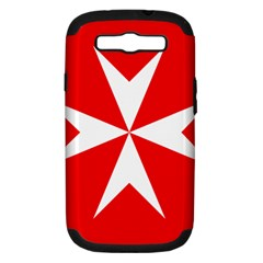 Cross Of The Order Of St  John  Samsung Galaxy S Iii Hardshell Case (pc+silicone) by abbeyz71
