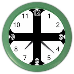 Cross Moline Color Wall Clocks by abbeyz71