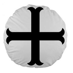 Cross Moline Large 18  Premium Flano Round Cushions by abbeyz71