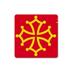 Flag Of Occitaniah Square Magnet by abbeyz71