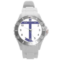 Orthodox Cross  Round Plastic Sport Watch (l) by abbeyz71