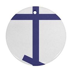Orthodox Cross  Round Ornament (two Sides) by abbeyz71