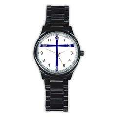 Byzantine Cross  Stainless Steel Round Watch by abbeyz71