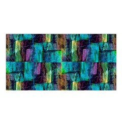 Abstract Square Wall Satin Shawl by Costasonlineshop