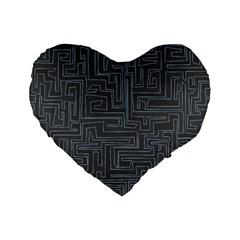 Pattern Standard 16  Premium Heart Shape Cushions by Valentinaart