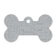 Pattern Dog Tag Bone (one Side) by Valentinaart