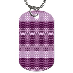 Pattern Dog Tag (two Sides) by Valentinaart