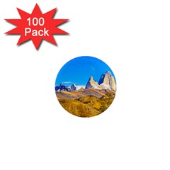 Snowy Andes Mountains, El Chalten, Argentina 1  Mini Magnets (100 Pack)  by dflcprints