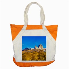 Snowy Andes Mountains, El Chalten, Argentina Accent Tote Bag by dflcprints
