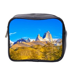 Snowy Andes Mountains, El Chalten, Argentina Mini Toiletries Bag 2 Side by dflcprints