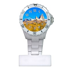 Snowy Andes Mountains, El Chalten, Argentina Plastic Nurses Watch by dflcprints