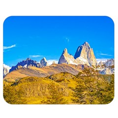 Snowy Andes Mountains, El Chalten, Argentina Double Sided Flano Blanket (medium)  by dflcprints