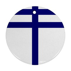 Papal Cross Round Ornament (two Sides) by abbeyz71