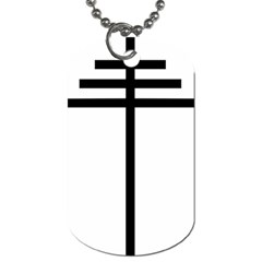 Papal Cross  Dog Tag (two Sides) by abbeyz71