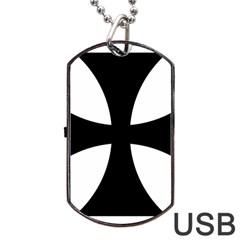 Cross Patty Dog Tag Usb Flash (two Sides) by abbeyz71