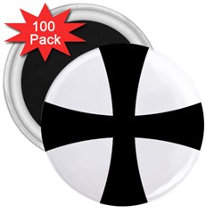 Cross Patty 3  Magnets (100 Pack) by abbeyz71