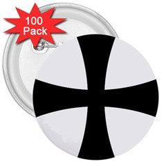 Cross Patty 3  Buttons (100 Pack)  by abbeyz71