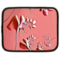 Amazing Floral Fractal B Netbook Case (xxl)  by Fractalworld