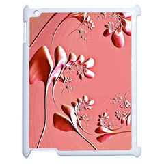 Amazing Floral Fractal B Apple Ipad 2 Case (white) by Fractalworld