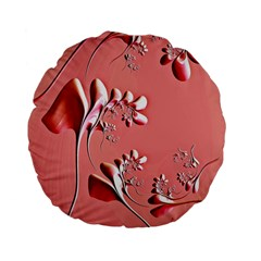 Amazing Floral Fractal B Standard 15  Premium Flano Round Cushions by Fractalworld