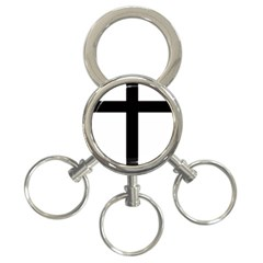 Patriarchal Cross 3 Ring Key Chains by abbeyz71