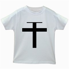 Patriarchal Cross Kids White T Shirts by abbeyz71