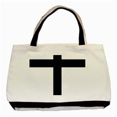 Patriarchal Cross Basic Tote Bag (two Sides) by abbeyz71