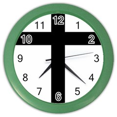 Patriarchal Cross Color Wall Clocks by abbeyz71