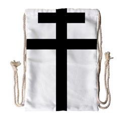 Patriarchal Cross Drawstring Bag (large) by abbeyz71