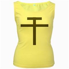 Patriarchal Cross  Women s Yellow Tank Top by abbeyz71